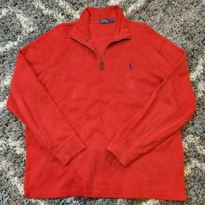 Polo Ralph Lauren Zipper Sweater Red/Blue Logo